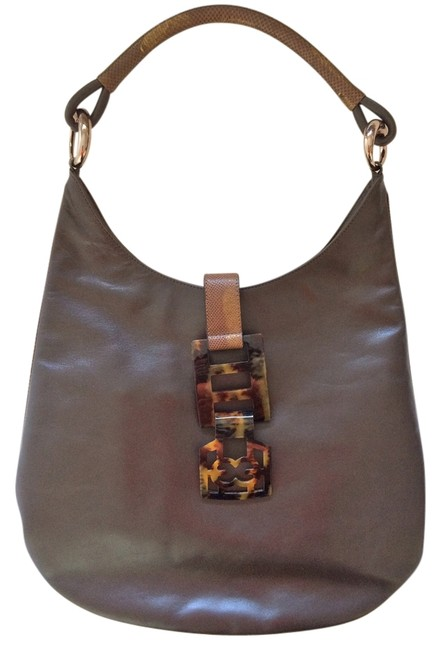 Escada Karung Brown Leather Hobo Bag Escada Karung Brown Leather Hobo Bag Image 1