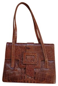Claude Gerard Leather Crocodile 1960s 1950s Shoulder Bag
