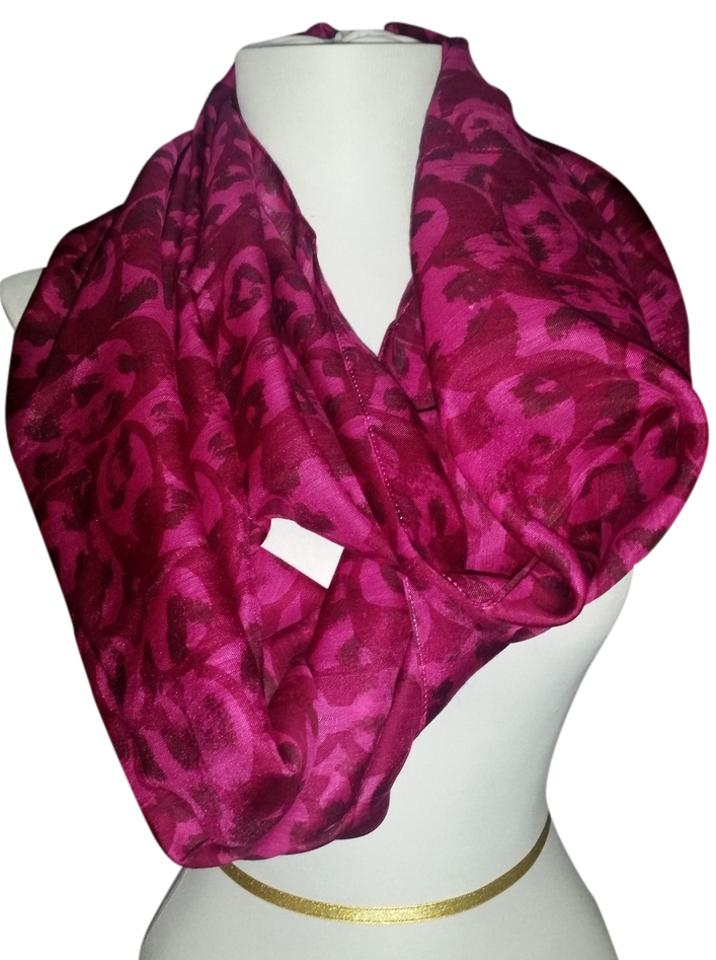 pink color faux fur yangtze warmer and infinity neck scarf purple store products
