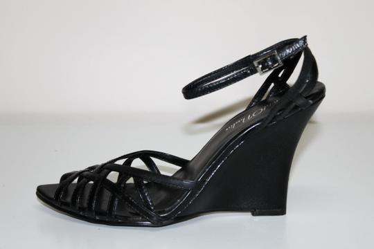 Navid O Nadia BLACK KID Wedges