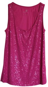 New York & Company Ny&c Like Glitter Top Hot Pink