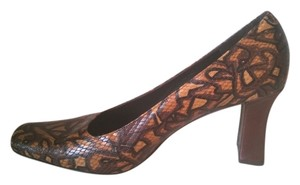 Via Spiga Italy Brown Snake Pumps
