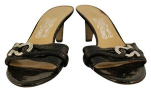 Salvatore Ferragamo Womens Leather Black Sandals