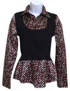 HeartSoul Top Black Red & White