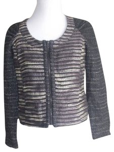 I Heart Ronson New Metallic Short Black Jacket
