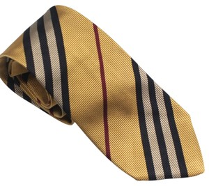 Burberry Burberry London Yellow Nova Stripe Silk Neck Tie