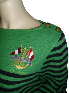 Ralph Lauren Stripes Anchor Embroidery Sweater