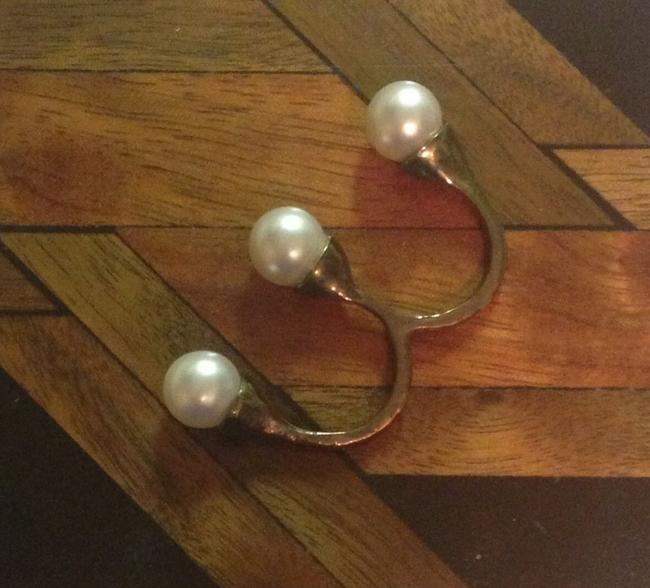 Pearl Two Finger Floating Ring Pearl Two Finger Floating Ring Image 1