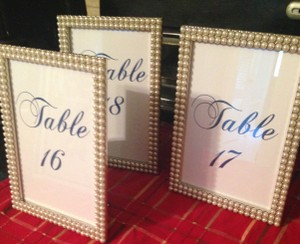 Expressions Pearl/Ivory Table Number Frames Reception Decoration