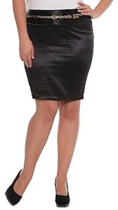 Torrid Z. Cavaricci Skirt Black Satin