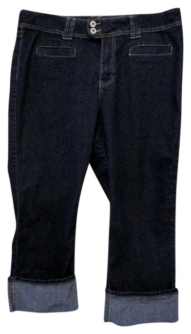 Item - Dark Denim Rinse - Never Worn Capri/Cropped Jeans Size 16 (XL, Plus 0x)