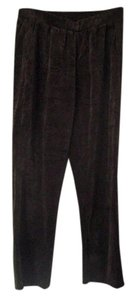 Ralph Lauren Velour Pull-on Boot Cut Pants Dark Chocolate Brown