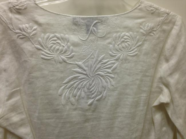 Ralph Lauren Embroidery Floral Embroidered Long Sleeve Bell Summer Linen Bo Ho Boho Classic Rl Tb Tory Burch Blouse Lilly Pulitzer Tunic