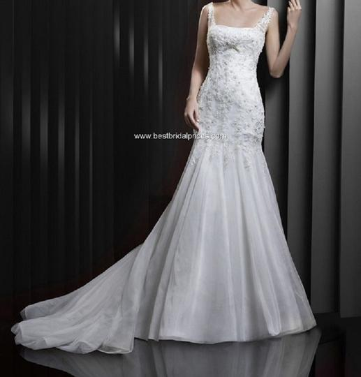 Enzoani Ivory/Silver Tulle/Lace Bt-13-16 Modern Wedding Dress Size 20 (Plus 1x)
