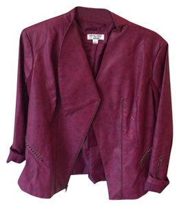 Yvonne Marie Maroon Leather Jacket