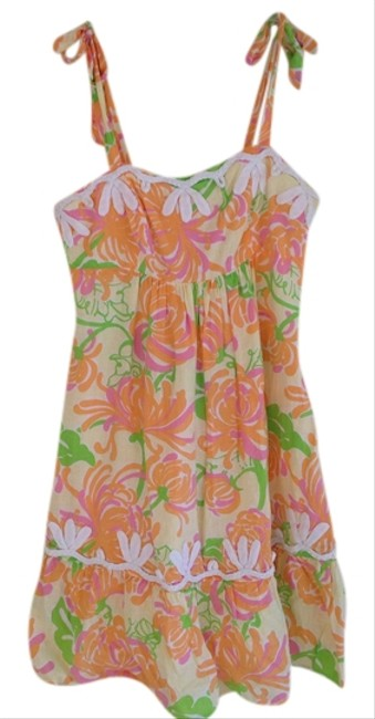 Lilly Pulitzer short dress Spring Summer Pineapple Tropical Halter Strappy Strappy Palmeto Janice Shift Betty Angel Meg Gabby Eaton Shianne Sea on Tradesy