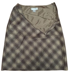 Brooks Brothers Classic Wool Winter Skirt Brown Tweed