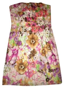 J.Crew short dress Pink purple green on Tradesy