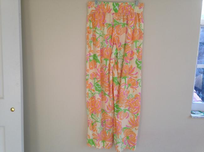 Lilly Pulitzer Linen Pineapple Summer Spring Beach Pool Tropical Beachy Grass Sun Sea Palms Crabby Roll Cambridge Plazo Pants
