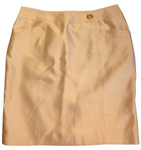 Blumarine Mini Skirt Soft Gold