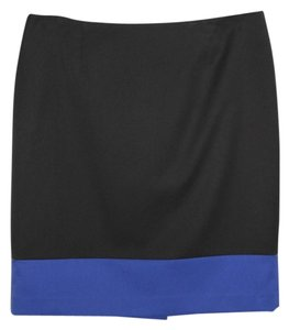 Evan Picone Skirt Black/Blue
