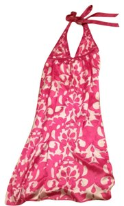Pink And White Maxi Dress by Banana Republic