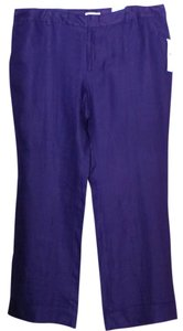 Coldwater Creek Linen Size 20 Wide Leg Pants PURPLE