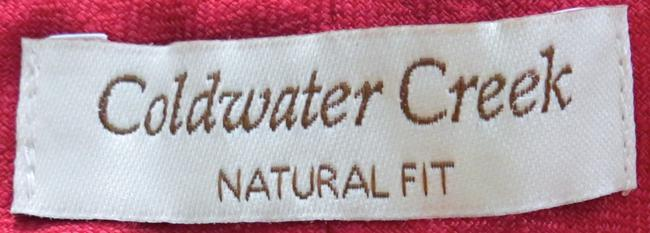 Coldwater Creek Linen Size 20 Wide Leg Pants RED