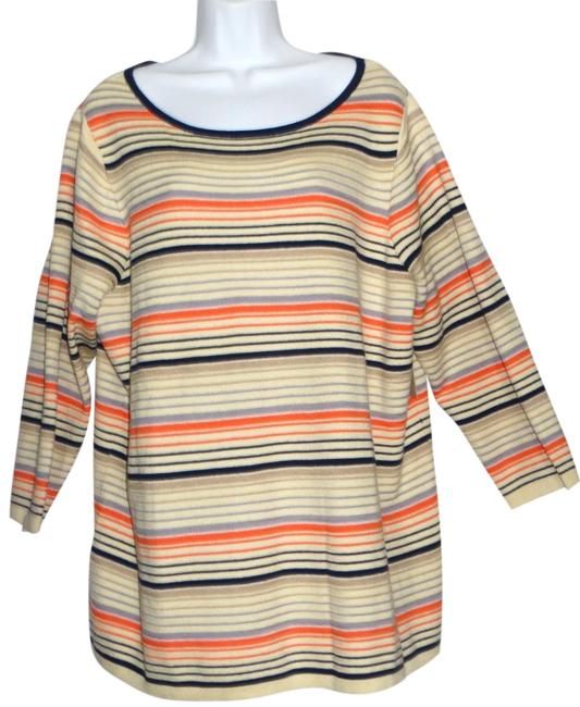 Coldwater Creek Stripes Cotton Blend Size 24 Sweater