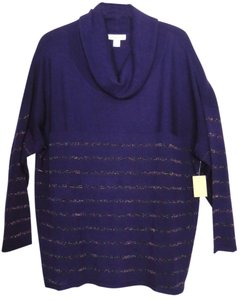 Coldwater Creek Cowl Neck Plus-size Shimmer Metallic Sweater