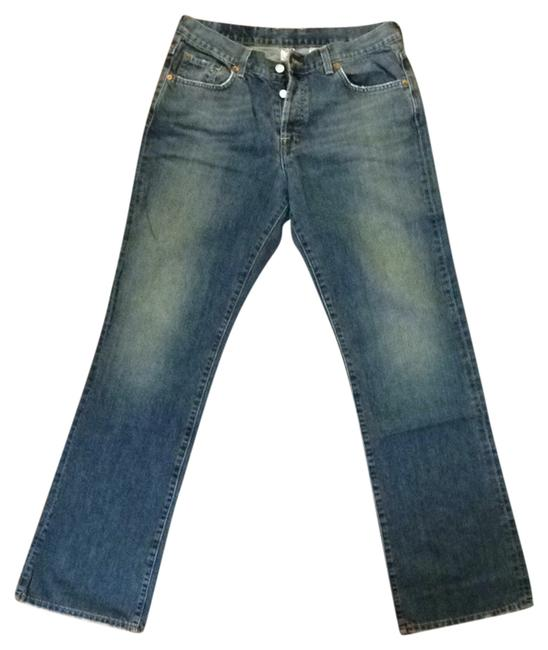 Item - Blue Distressed Easy Rider Boot Cut Jeans Size 30 (6, M)
