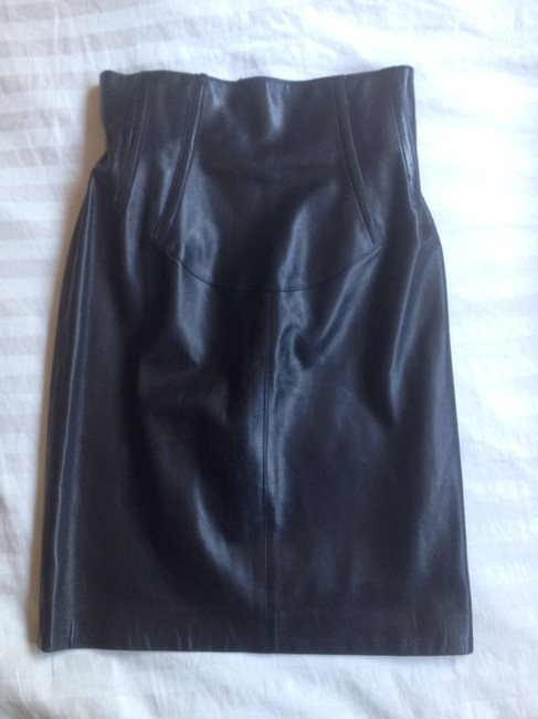 ALAÏA Pencil Skirt Black Leather