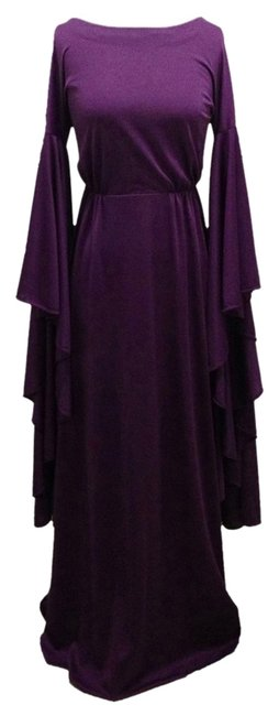 Other Disco Disco Gown Studio 54 Halston Sleeves Purple Costume Maxi Dress