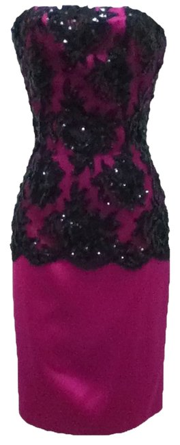 Preload https://img-static.tradesy.com/item/1153997/patrick-kelly-pink-and-black-80-s-vintage-lace-lace-knee-length-cocktail-dress-size-4-s-0-1-650-650.jpg