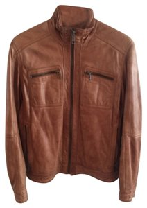 Andrew Marc Light Brown Leather Jacket