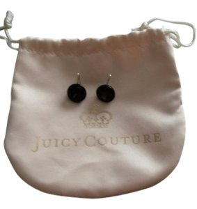 Juicy Couture Black Beveled Earrings