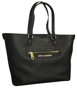 Juicy Couture Leather Tote Bag New Tote in Black