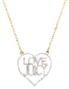 Juicy Couture Pave Love Juicy Heart Wrap Long Necklace Gold 32