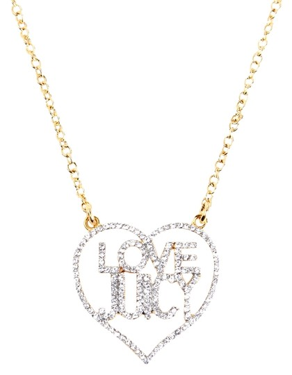 "Juicy Couture Pave Love Juicy Heart Wrap Long Necklace Gold 32"" YJRUS046"