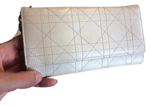 Dior White Leather Dior Wallet