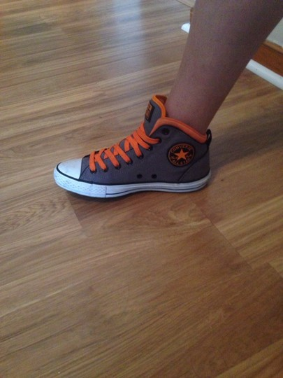 Converse Charcoal Grey With Orange Athletic