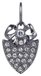 Juicy Couture Juicy Couture Mini Pave Shield & Bow Charm Gunmetal DIY Charm YJRU5969 NIB