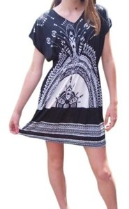 Free Culture short dress black and white pattern on Tradesy