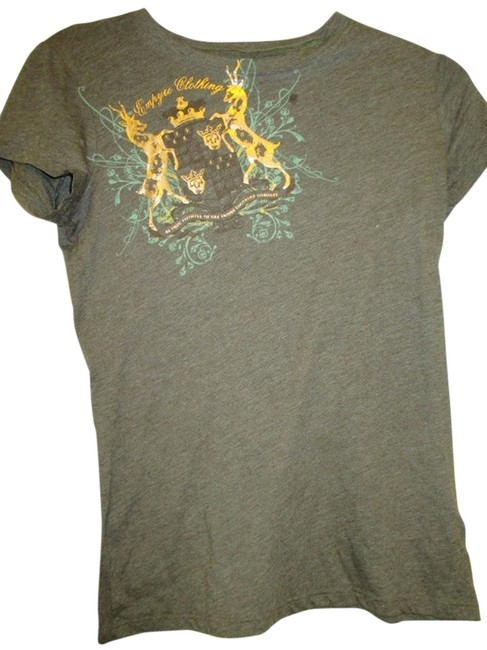 Empyre Clothing Large Fitted Skate Shop T Shirt Greyish Brown