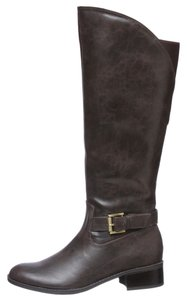 Sam & Libby Faux Leather Knee High Brown Boots