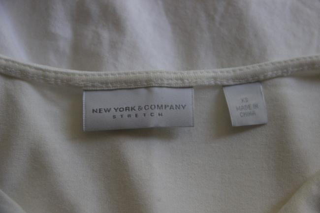 New York & Company And Gathered Sides Dressy Layer Piece Top Cream