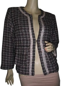 Guess Guess tweed jacket, black pink white tweed