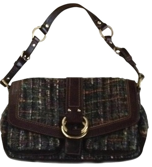 Preload https://item3.tradesy.com/images/coach-shoulder-bag-green-and-brown-tweed-115467-0-0.jpg?width=440&height=440