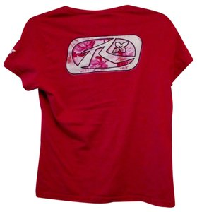 Rusty Super Soft Fitted Surf Beach Summer Juniors Xl T Shirt Red