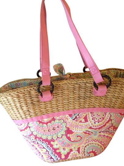 Preload https://item1.tradesy.com/images/vera-bradley-straw-tote-pink-stew-and-cotton-with-leather-straps-beach-bag-1154695-0-0.jpg?width=440&height=440